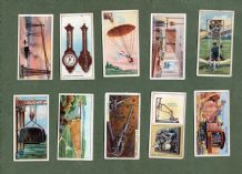 Cigarette cards set Inventions 1915, Traction  Steam Engine, Camera, Tram,